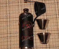 Фляга-термос YT-9 Карманная фляга Фляга+2 стопки Подарочные наборы с флягой Походная фляга Подарок мужчине