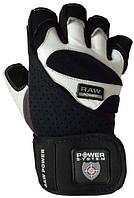 Перчатки для тяжелой атлетики мужские POWER SYSTEM Черный Белый