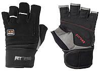 Перчатки для тяжелой атлетики нубук POWER SYSTEM  Черный