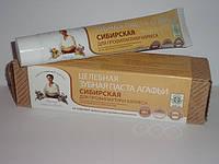 Целебная зубная паста Агафьи Сибирская для профилактики кариеса