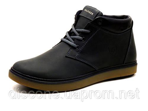 Ботинки зимние H.Denim мужские черные, кожаные, р. 40 41 43 45