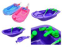 Ванночка для кукол и пупсов игрушечная с краниками и душем