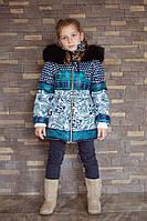 Детская удлиненная зимняя куртка; размеры от 82 до 140