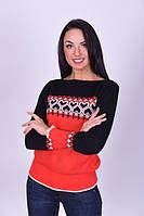Красивый женский свитер с узором