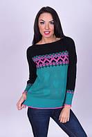 Женский повседневный свитер с сердечками