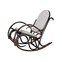 """Кресло-качалка """"Олимп"""" возможна подножка. Плетеная мебель из ротанга"""