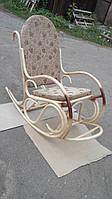 """Кресло-качалка """"Олимп"""" с подножкой. Плетеная мебель из ротанга"""