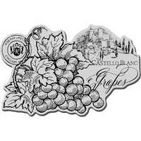 Штамп резиновый Cling Grape Label CRP184