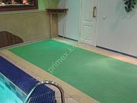 Антискользящий ковер-решетка «Гидро» цвет зеленый для бассейнов и влажных помещений купить коврик для сауны