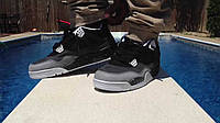 Мужские кроссовки Nike Air Jordan IV Retro Black-Grey