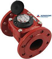 Счетчик Apator PoWoGaz MWN 130-80 (ГВ) горячей воды турбинный Ду-80 сухоход промышленный