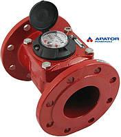 Счетчик Apator PoWoGaz MWN 130-100 (ГВ) горячей воды турбинный Ду-100 сухоход промышленный