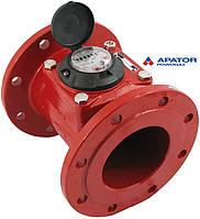 Счетчик Apator PoWoGaz MWN 130-125 (ГВ) горячей воды турбинный Ду-125 сухоход промышленный