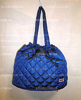 Женская стёганая спортивная сумка с затяжками