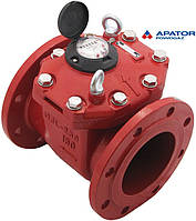 Счетчик Apator PoWoGaz MWN 130-150 (ГВ) горячей воды турбинный Ду-150 сухоход промышленный