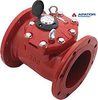 Счетчик Apator PoWoGaz MWN 130-200 (ГВ) на горячую воду турбинный Dn 200 сухоход промышленный