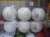 Шикарные новогодние шары-3 шт в упак.