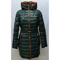 Удлиненное зимнее пальто женское по бокам декорировано молниями для регулировки полноты
