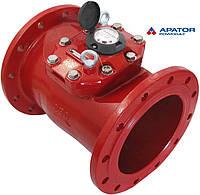 Счетчик Apator PoWoGaz MWN 130-250 (ГВ) горячей воды турбинный Dn 250 сухоход промышленный
