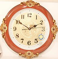 Часы настенные круглые большие с украшением