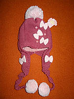 Детская зимняя шапка 46-50