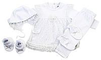 Ozendik Комплект 'Платье для крещения' Ozendik  белый р.68 (интерлок)