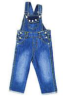 Бемби Полукомбинезон джинсовый Бемби  синий р.92 (хлопок)