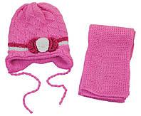 AJS Комплект шапка и шарф AJS  розовый р.44 (шерсть30%*акрил70%)