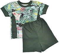 Алиса Комплект футболка и шорты 'Air combo' Алиса  темно-зеленый р.24 (интерлок)