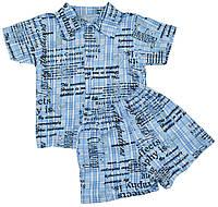 Алиса Комплект рубашка и шорты 'Concep's' Алиса  голубой р.24 (кулир)