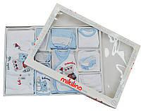 Mikilino Комплект подарочный 'Mega' 10 предметов Mikilino  голубой р.56