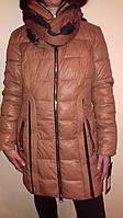 Зимняя женская куртка на холлофайбере в комплекте шарф