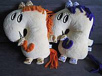 Мягкая игрушка - подушка лошадь Жюли ручная работа