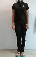 Женский летний спортивный костюм Adidas черный (9987) код 902А