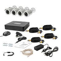 AHD Комплект видеонаблюдения для быстрой установки Tecsar 4OUT + HDD 500ГБ
