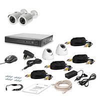 AHD Комплект видеонаблюдения для быстрой установки Tecsar 4OUT-MIX LUX
