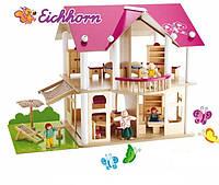 Кукольный дом Вилла с мебелью и фигурками  Eichhorn 2513