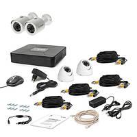 AHD Комплект видеонаблюдения для быстрой установки Tecsar 4OUT-MIX