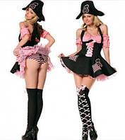 Новогодний костюм пиратки с розовым