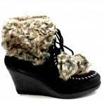 Ботинки зимние на танкетке женские