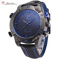 Мужские часы SHARK LED Digital Blue Sport Watch