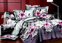 """Семейный комплект постельного белья """"Яркие цветы"""", ранфорс"""