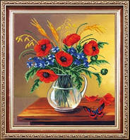Набор для полной вышивки бисером цветы. Прованс МК Б-254