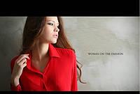 Блузка, рубашка женская свободного покроя