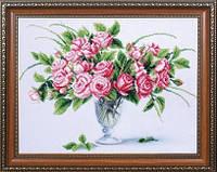 Набор для вышивания бисером Чайные розы МК Б-301