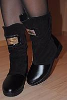 Замшевые стильные зимние ботиночки