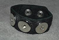 Браслет кожаный для 3 кнопок Нуса (18-20 мм)
