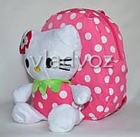 Детский рюкзак с мягкой игрушкой Hello Kitty розовый
