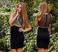 Черное платье коктейльное