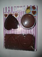 Вырубка-набор для изготовления печенья с шоколадом (сердце) (код 04398)